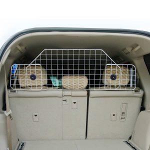 PAWHUT Grelha Separadora Extensível de Carro para Cães e Animais de Estimação - Metal e ABS - Medidas 89-122x41 cm