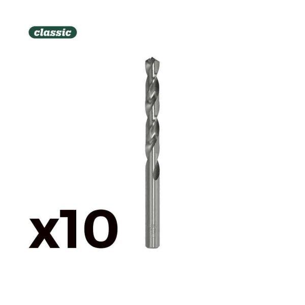 Pack 10 Broca Cilind. Aço Rapido De4.25Mm M042