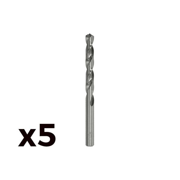 Pack 5 Brocas Cilind. Aço Rapido De8.25Mm M082