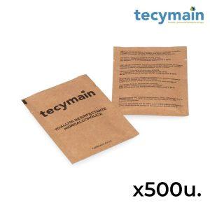 Pack Com 500 Toalhetes Hidroalcoólicos Tecymain. Toalhete De