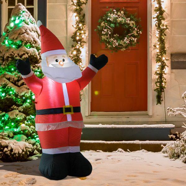 Pai Natal Insuflável 1.2m Decoração Natal Iluminação LED Ideal Interior Exterior