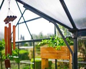 Estufa de Jardim Victory em Policarbonato para cultivo de plantas 9