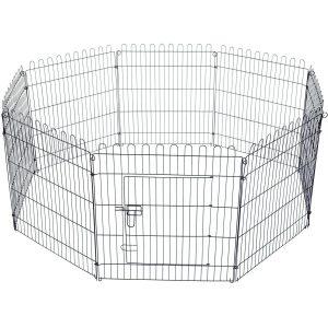 Parque para cães e outros animais de estimação - 8 vedações 71 x 61 cm