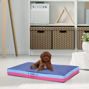 PawHut Cama do cão Cobertor reversível para animais de estimação 88x56x10cm