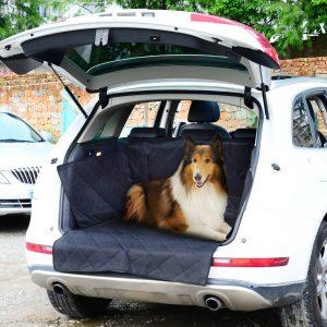 PawHut Capa Protetora para Cães para Porta-Bagagens - Cor: Preta - Tecido Oxford e Borracha antiderrapante - 99x132 cm
