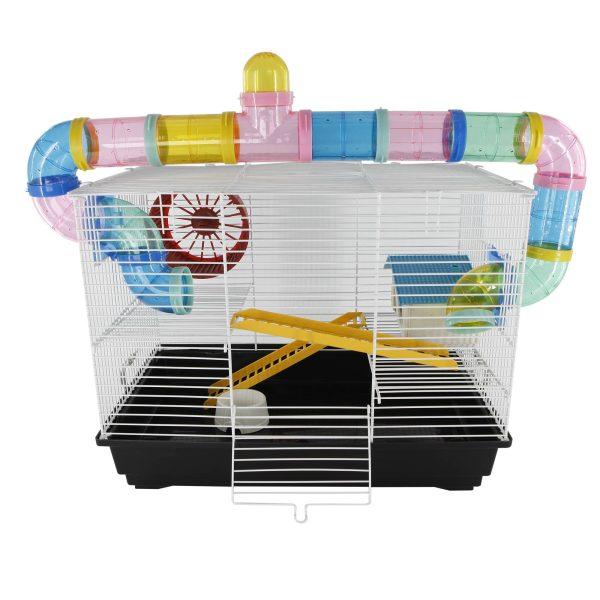 PawHut Gaiola para Hamster 62x29x52cm Casa para Roedores Animal Pequeno Acessórios Incluídos