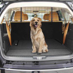 PawHut Grade de Segurança Barreira para Cão Extensível Universal 91-145x30 cm Aço