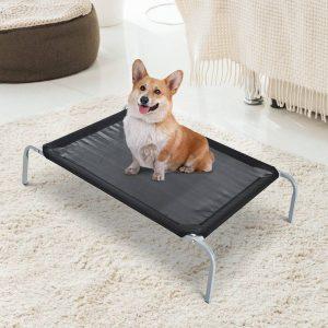 Pawhut® Cama Elevada para Mascote Cama Cão para Viajar 89x58x20cm