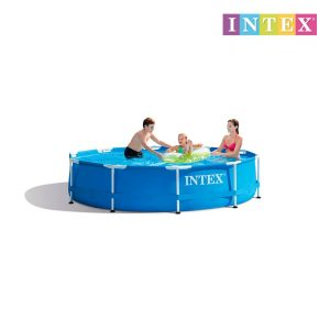 Piscina Metal Frame 305X76 Cm 4485L (Sem Depuradora) Intex28200 Ideal Para 3-4 Pessoas Maiores De 6 Anos