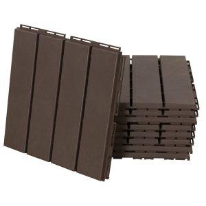 Pisos para áreas externas 30x30 Pacote de 9 peças Cobre 0