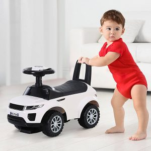 Quad andarilhos Carro Infantil sem Pedais para Bebê Estilo de Carreira de Andador de Brinquedo com Alto-falante 60x38x42cm