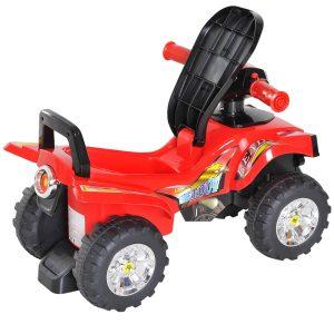 Quad passeio de criança Carro de bebê sem pedais brinquedo com chifre 60x38x42cm