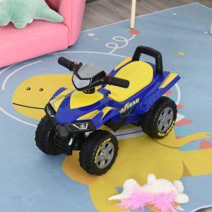 Quadriciclo elétrico para crianças +12 meses com sons de luzes 60x38x42 cm Azul