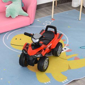 Quadriciclo elétrico para crianças +12 meses com sons de luzes 60x38x42 cm Vermelho