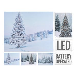 Quadro Decoratico Com Led 50X40 Modelo Arvores 50X1