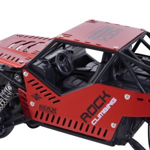 RC Carro Crawler Jipe 4x4 2.4 GHz Carro Telecomandado Brinquedo Telecomandado 1:16 20 km/h para Crianças +3 Anos Presente Perfeito Preto