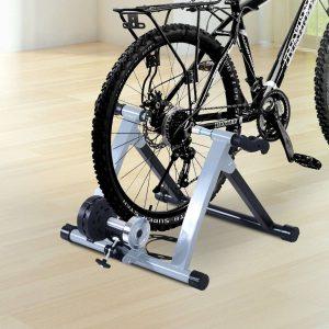 Rolo Bicicleta para treinamento de ciclismo – Cor Prateada – Estrutura de Aço - 54.5x42.2x39.1cm