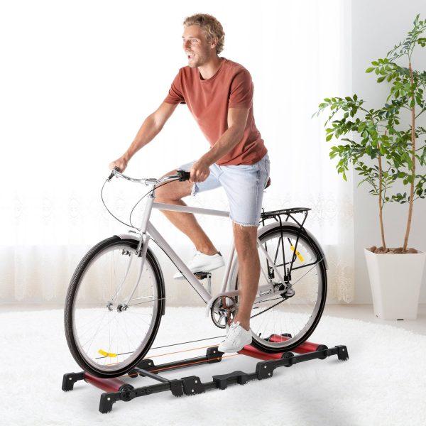 Rolo de Bicicleta Dobrável Ajustável Interior 146x55x10