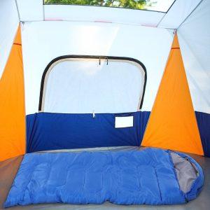 Saco de dormir para acampamento 1 lugar 210x75 cm Azul