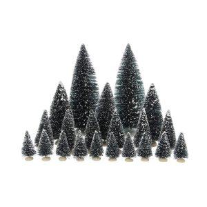 Set De 21 Árvores Miniatura Para Presépio Vários Tamanhos