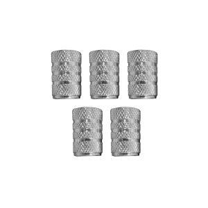 Set De 5 Tampões De Válvulas Rodas De Carro Prata Dunlop