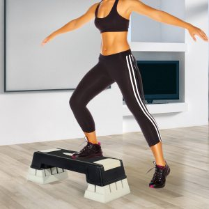 Step Fitness Preto e cinzento Plástico 76x29x12.5-22