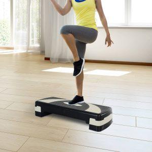 Step Fitness Preto e cinzento Plástico 80x31x10/15/20cm