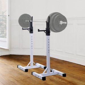 Suporte Ajustável para Levantamento de Barra e Pesos de Ginásio- Carga Máxima: 150 kg