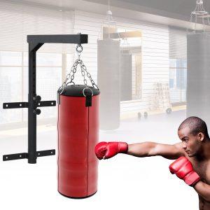Suporte de Teto para Saco Ajustável Cabide Boxe Parede Gancho Bolsa Pesada MMA Tubo Robusto de Aço Carga máx. 100kg