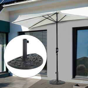Suporte de guarda-sol semicircular ajustável Universal de Cimento Φ50x32x32cm