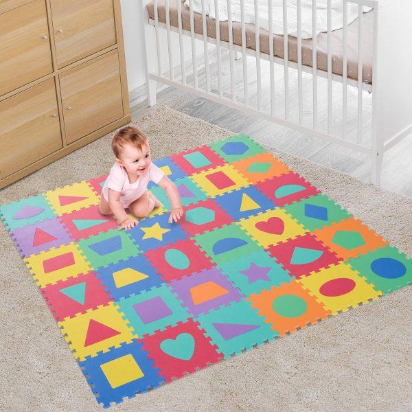 Tapete Puzzle Colchão suave para Crianças 3.24㎡Borracha de espuma EVA
