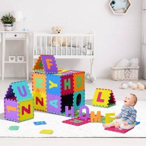 Tapete Puzzle Letras Abecedário A-Z para Crianças - Borracha EVA 2
