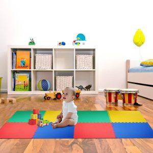 Tapete Puzzle tipo Passadeira de Diversão para Crianças de 3 anos- 8 peças- Borracha Espuma EVA- Multicolor - 2