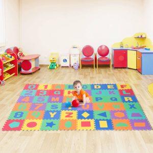 Tapete de quebra-cabeça 4.32㎡ Jogo de Puzzle para Crianças Espuma de EVA