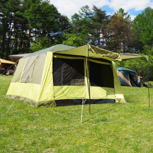 Tenda de Campismo Familiar 4-8 Pessoas Portátil e Impermeável com Bolsa de Transporte 410x310x225cm