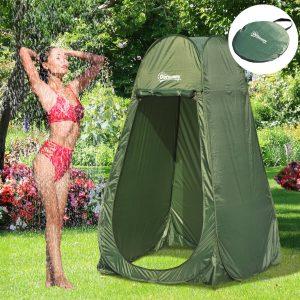 Tenda de Campismo Instantâneo Tipo carpa Chuveiro Trocador de WC Impermeável para acampar-100x100x185cm