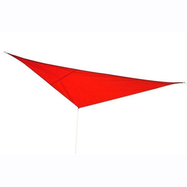 Toldo Vela 4x4x4m Triângulo Cor Vermelho Parasol Terraço Jardim Camping