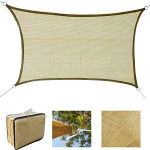 Toldo Vela quadrado 4x6m Toldo parasol Vela de Sombra proteção UV Poliéster para Patio Terraço Jardím resistente a água