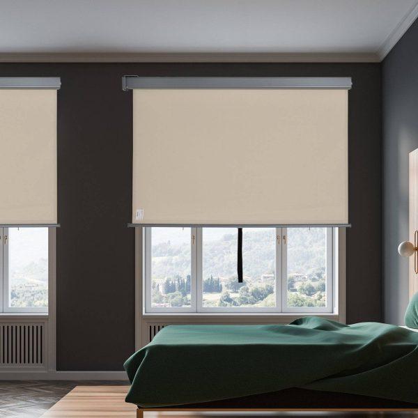 Toldo de Privacidade para Varanda Vertical e Horizontal 160x250 cm Bege e Cinza