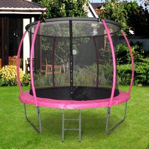 Trampolim ao ar livre para adultos e crianças 244cm de diâmetro Carga de 100kg Rose