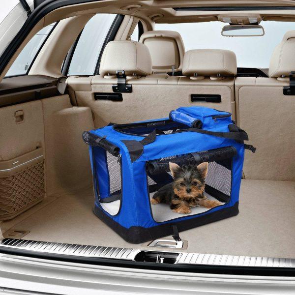 Transportadora 70 x 52 x 52 cm Cães Gatos Animais de estimação Viagem Tubo de Aço 4 Entradas
