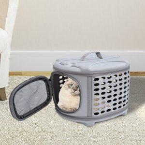 Transportadora Animais de estimação 46 x 37 x 31 cm Saco Transporte Cão Gato EVA e Forro Polar