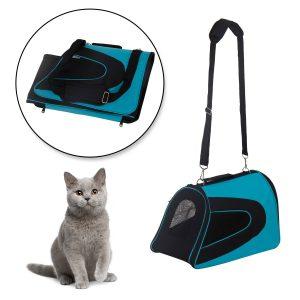 Transportadora Cão Gato de Estimação Saco de Viagem Alças e Alça ajustável