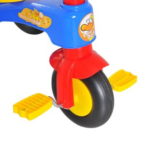 Triciclo para Crianças 18-36 Meses Triciclo Infantil Evolutivo com Buzina Cesto 60x42x45 cm Metal e PP
