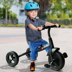 Triciclo para Crianças a partir dos 18 Meses– Cor: Preto– Ferro