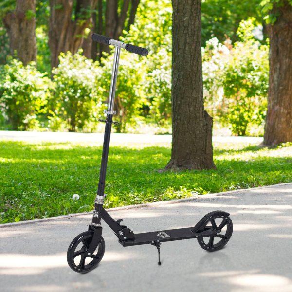 Trotinete dobrável para crianças acima de 5 anos de altura ajustável com freio 88x37x75-100 cm Preto