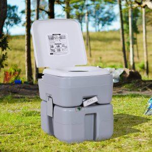 Vaso sanitário móvel portátil de 20L com tampa 41.5x36.5x42cm