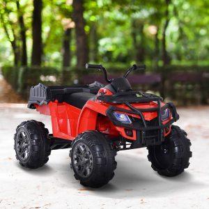 Veículo com bateria elétrica para crianças de 3 a 8 anos com capotas musicais com MP3 com luzes de carga dupla 30 kg 118x80x80cm