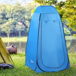 Vestiário de praia dobrável Tenda para o chuveiro 120x120x190 cm Azul