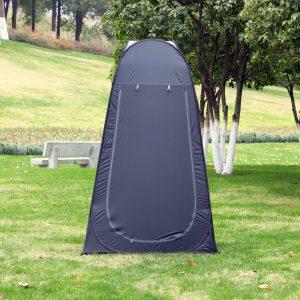 Vestiário de praia dobrável Tenda para o chuveiro 120x120x190 cm Preto